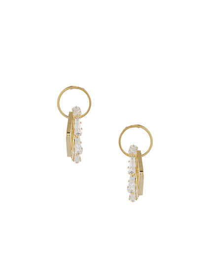 Gold Finish Stunning Korean Earrings For Girls
