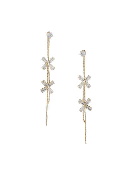 Adorable Gold Finish Korean Earrings For Girls