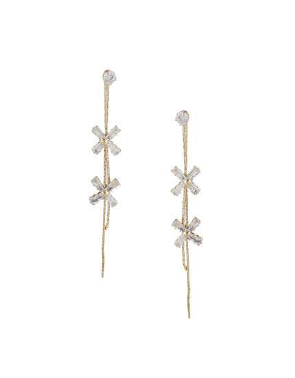 Adorable Gold Finish Korean Earrings For Girls