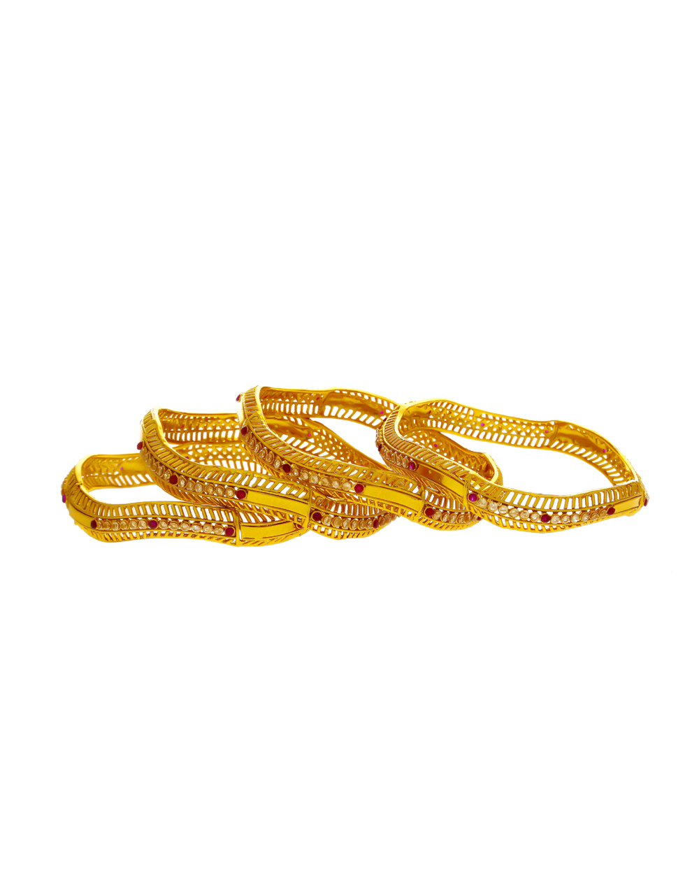 Unique Design Gold Finish Stunning Bangles For Women