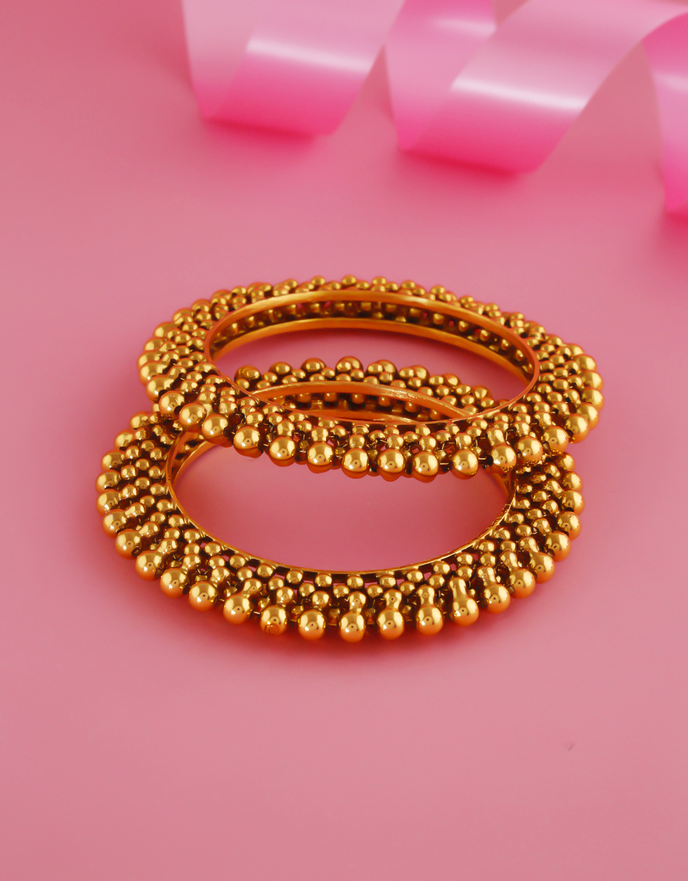 Gold Finish Maharashtrian Bangles For Women