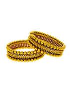 Fashionable Gold Finish Wedding Bangles For Women