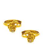 Fancy Gold Tone Toe Ring For Women