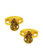 Beautiful Gold Finish Stunning Toe Rings For Women