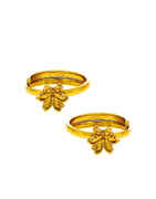 Simple Floral Design Toe Ring For Women