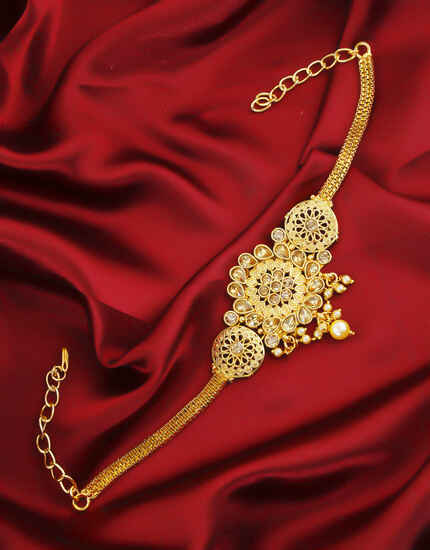 Beautiful Gold Finish Traditional Armlet Jewellery For Women