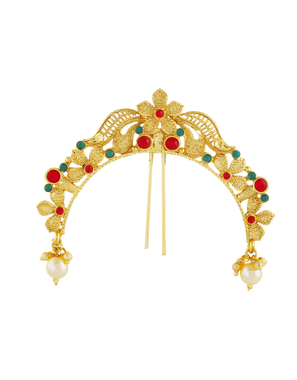 Floral Design Multi Colour Stunning Hair Brooch Pin