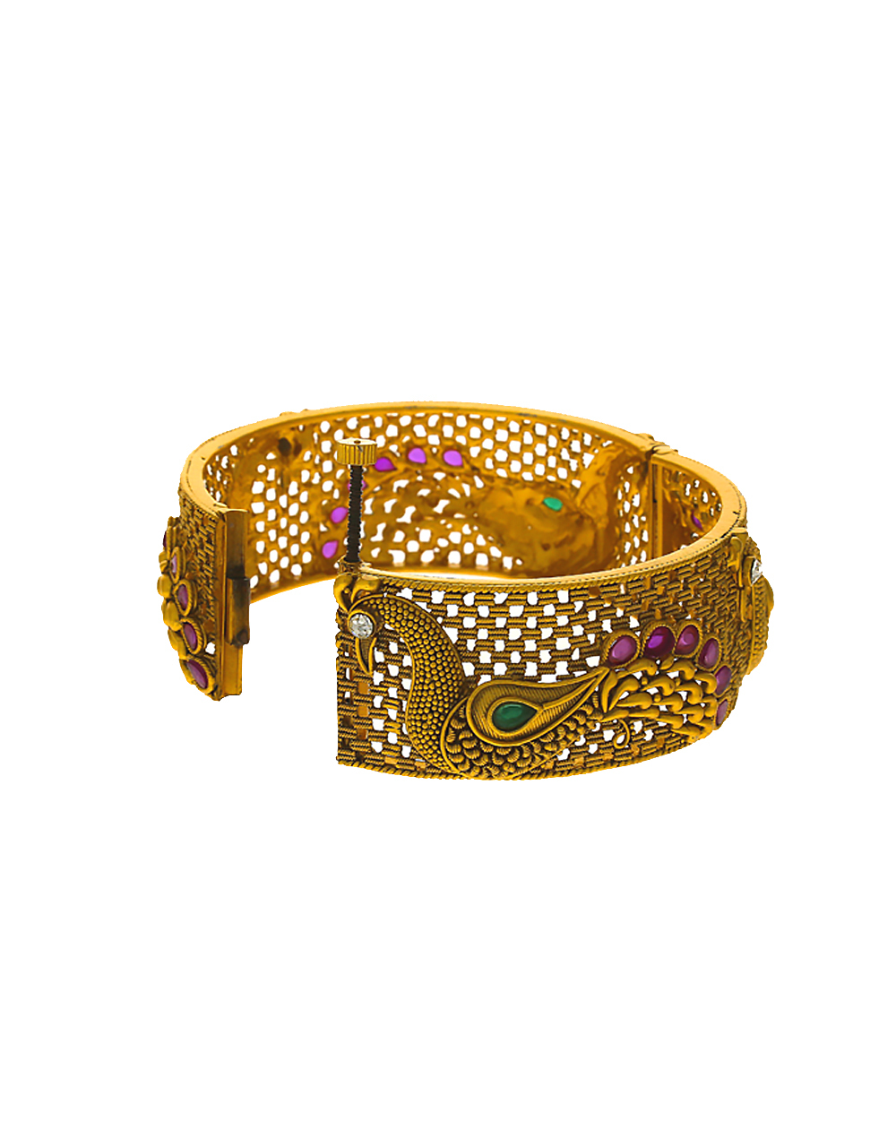 Multi Colour Matte Gold Finish Bangles For Women