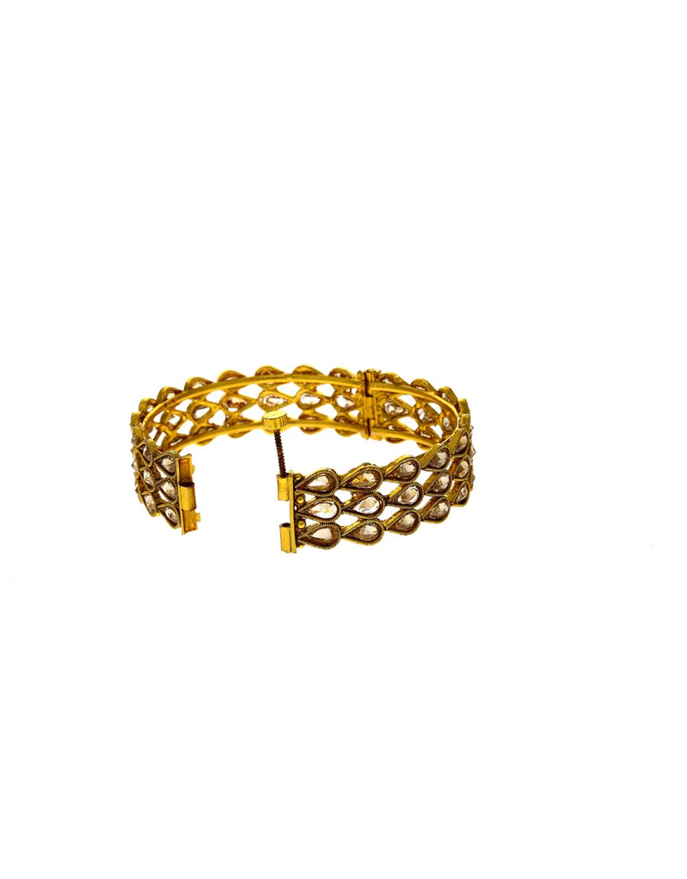 Very Classy Gold Finish Stunning Bangles For Bride