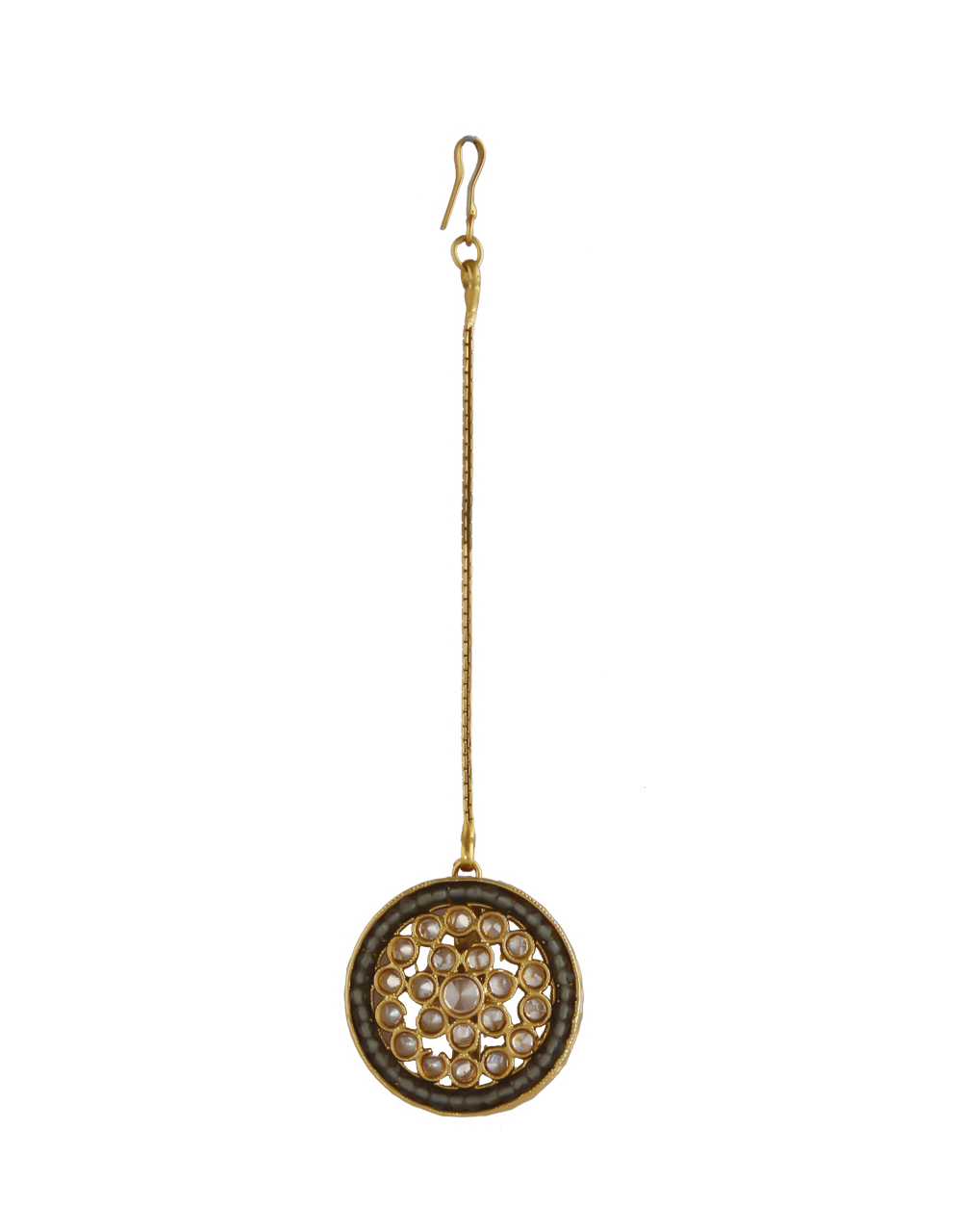 Grey Colour Gold Finish Fancy Round Shape Tops For Wedding