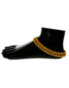 Fancy Gold Finish Traditional Payal Jewellery For Women