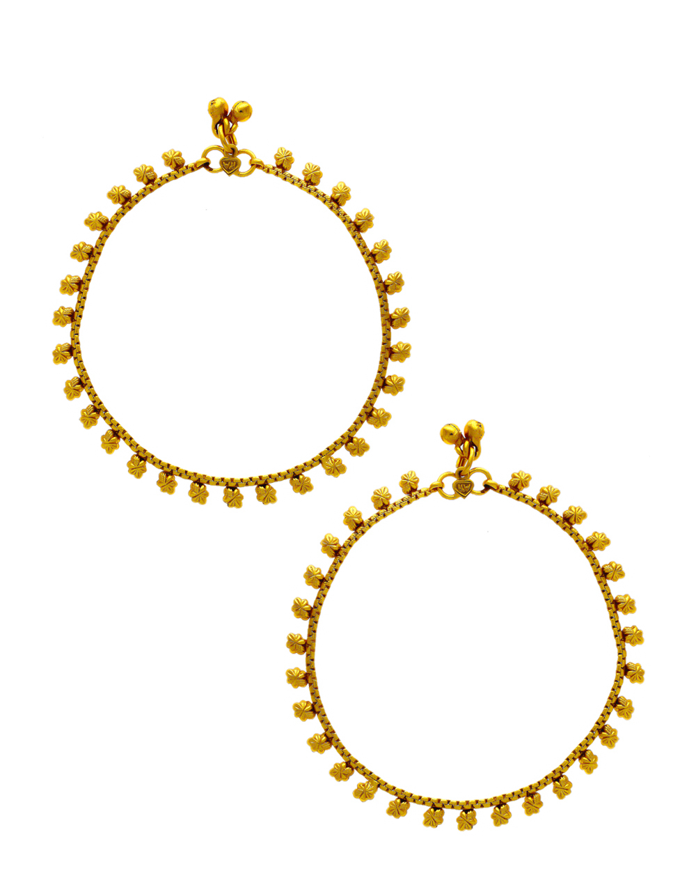 Gold Finish Simple Payal Jewellery For Women Fancy