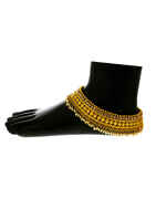 Very Classy Designer Gold Finish Pearls Styled Payal Jewellery