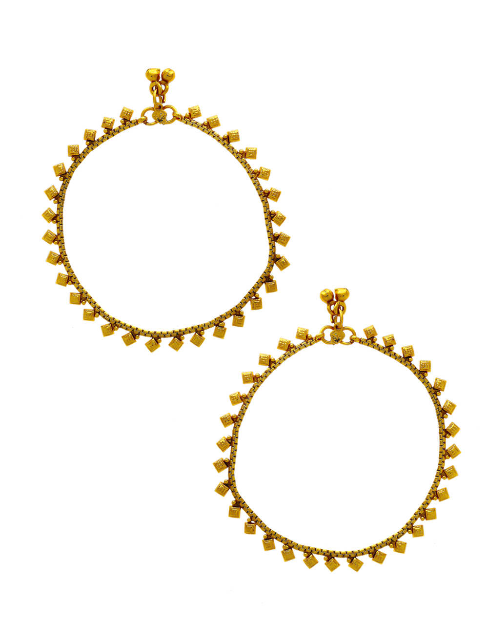 Gold Finish Simple Anklet Payal Jewellery
