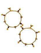 Floral Design Antique Gold Finish Fancy Payal For Girls