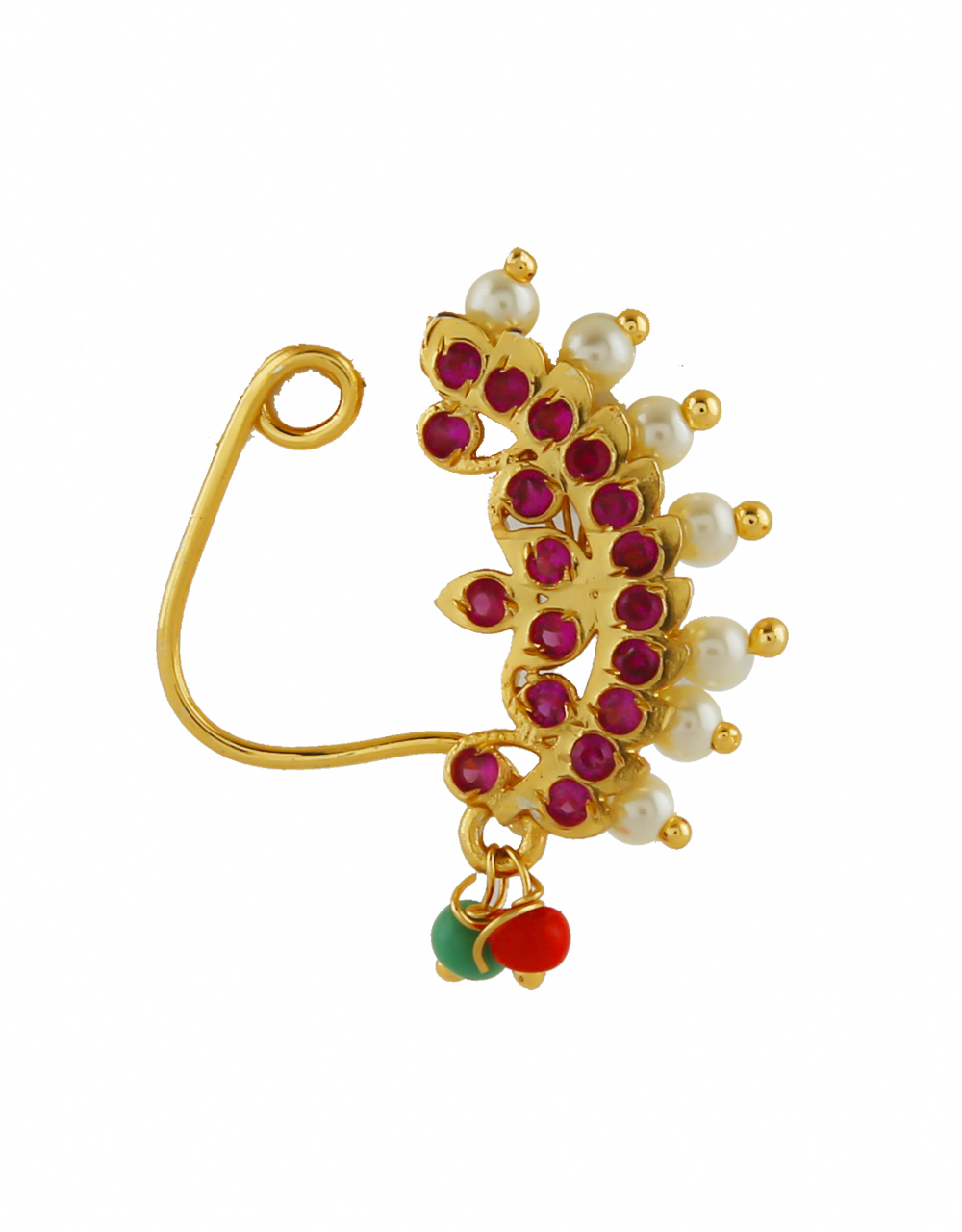 Gold Finish Pink Colour Bhanu Nath For Girls Fancy