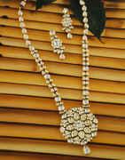 Beautiful Gold Finish Kundan Fancy Necklace For Women