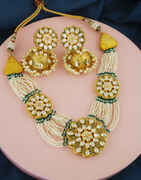 Matte Gold Finish Choker Kundan Necklace For Bride