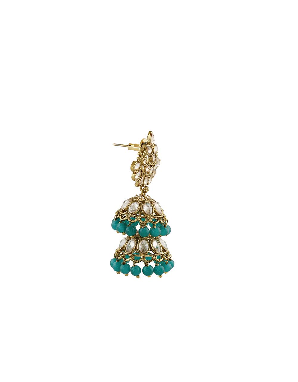 Exclusive Collection Of Green Colour Jhumki Earrings By Anuradha Art Jewellery.