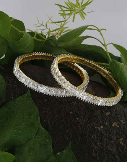Anuradha Art Jewellery Gazing Collection of American Diamond Bangles