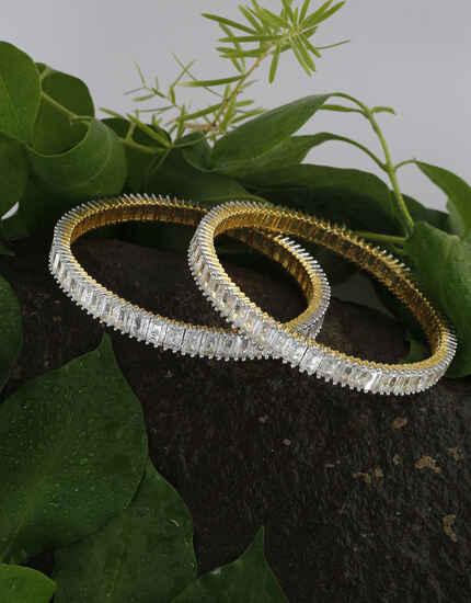 Anuradha Art Jewellery Gazing Collection of American Diamond Bangles