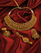 Unique Designer Golden Finish Traditional Necklace