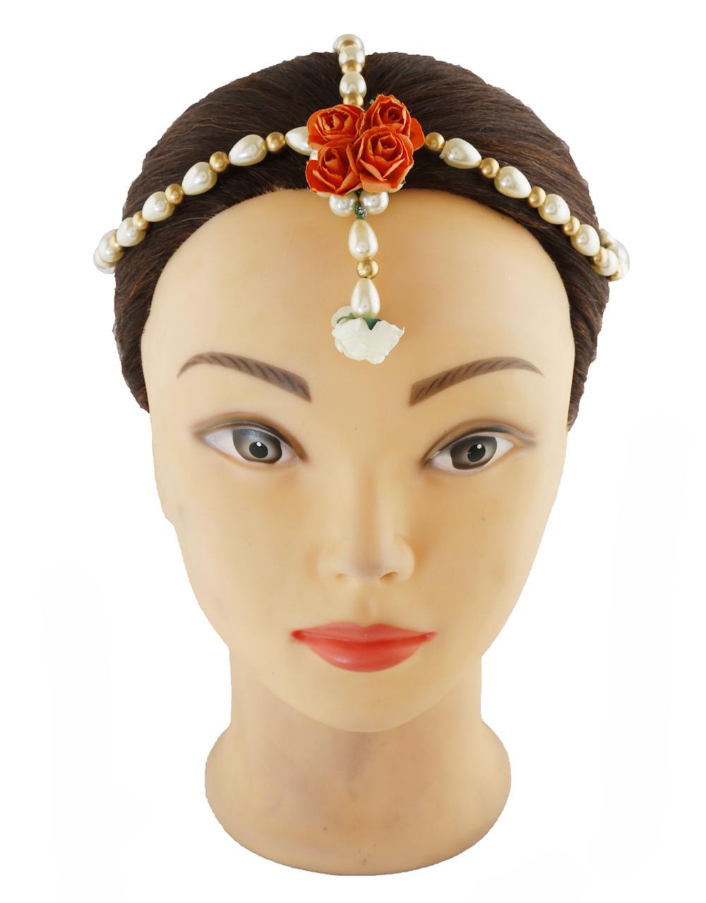 Orange Colour Floral Design  Jewellery For Women