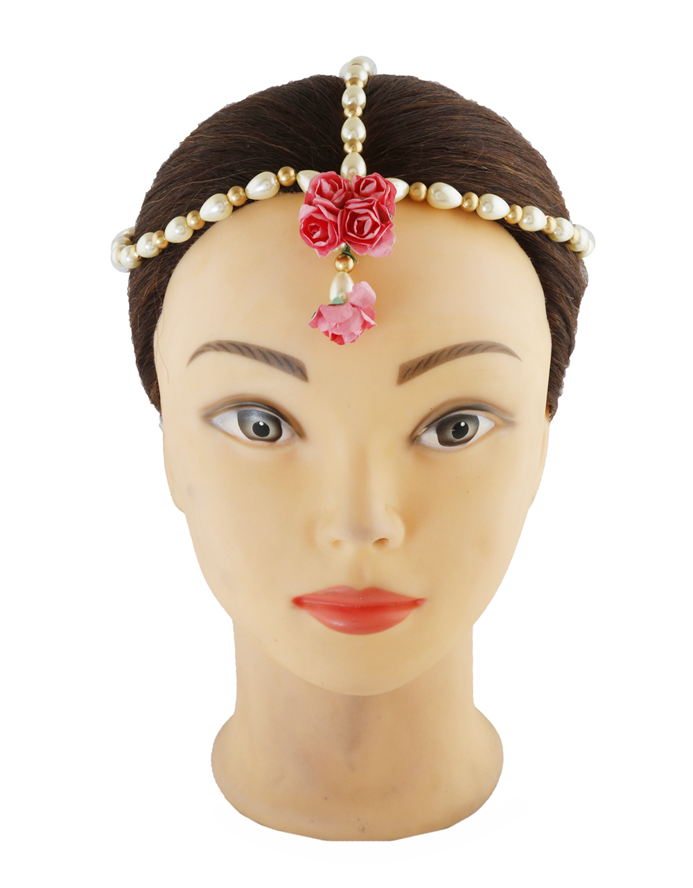 Pink Colour Floral Jewellery For Mehendi