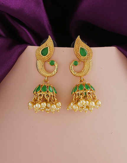 Green Colour Fancy Traditional Earring