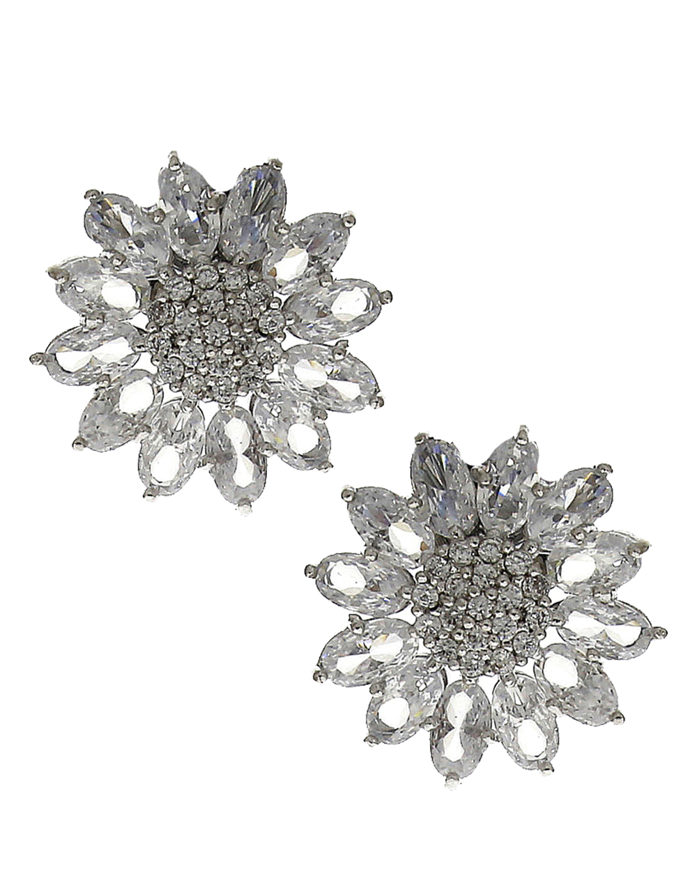 Floral Design Completely Studded With American Diamond Tops For Women