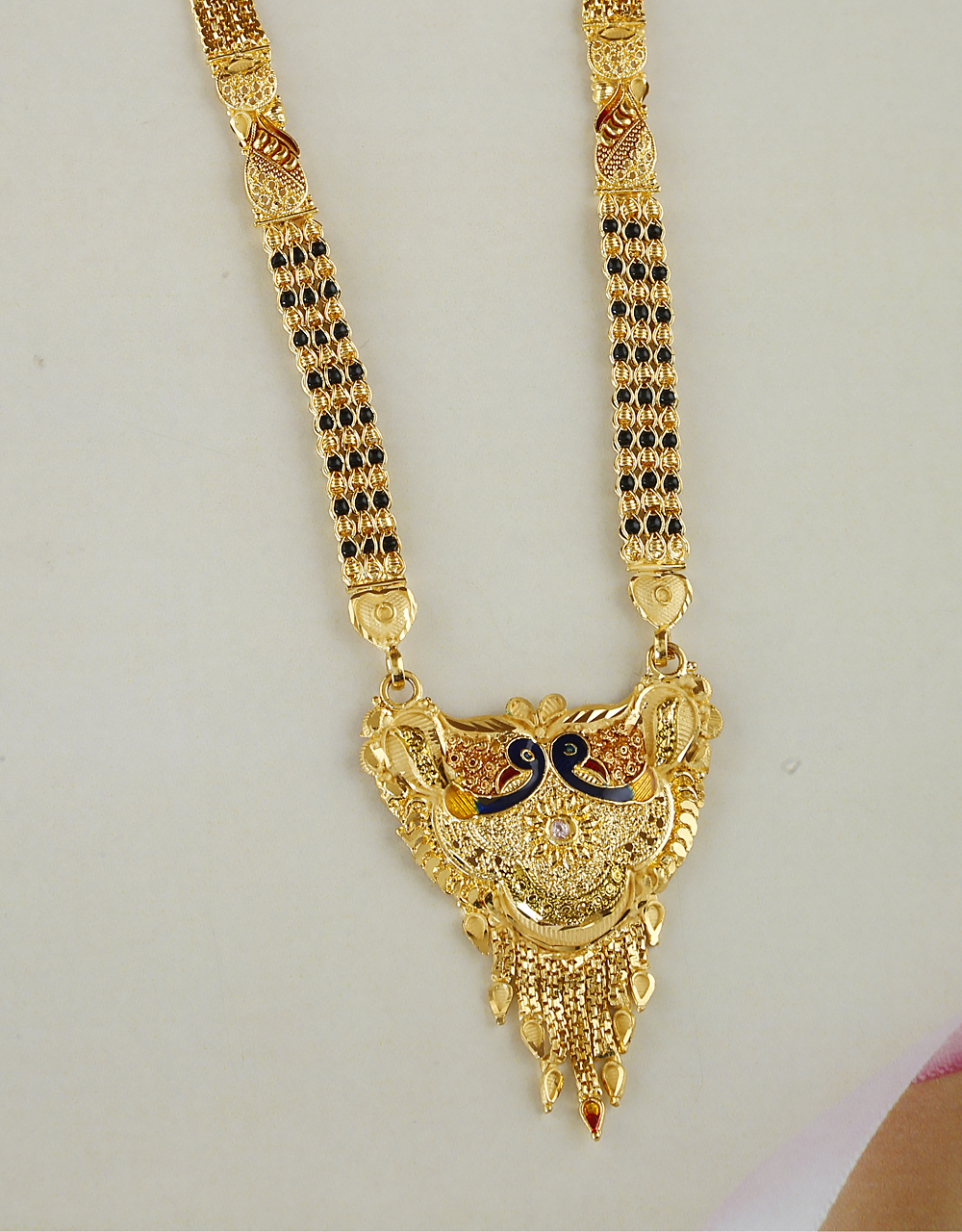 Fancy Peacock Design Mangalsutra For Women