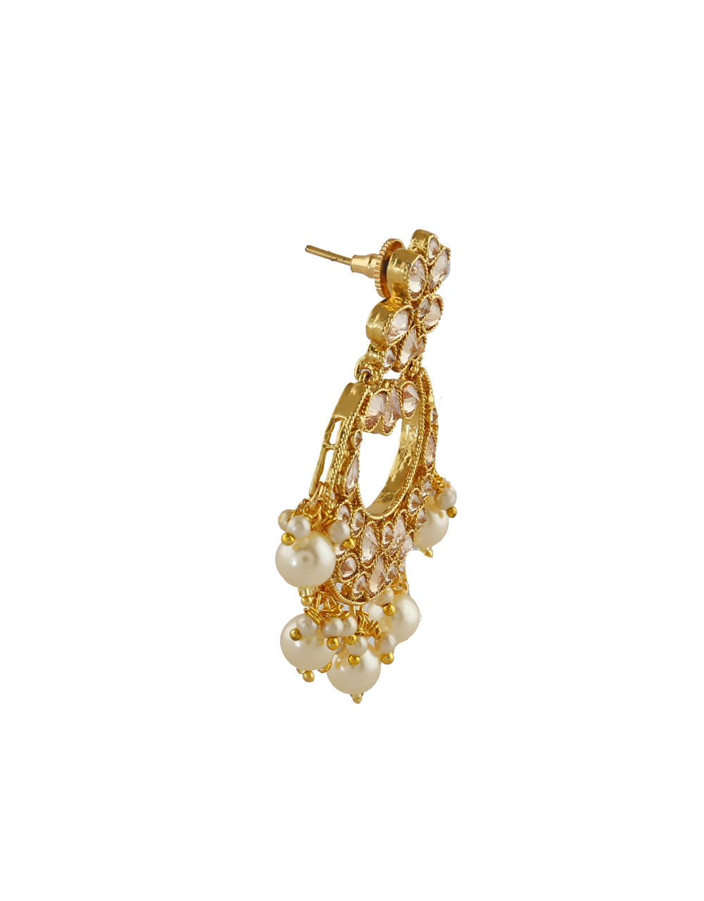 Floral Design Studded With American Diamond Necklace For Women