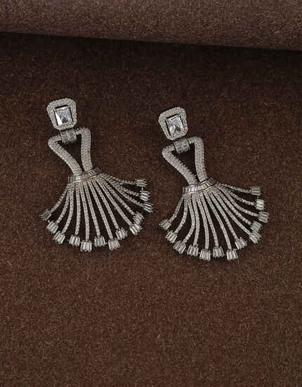 Stylish Design Studded with American Diamond Earring for Women