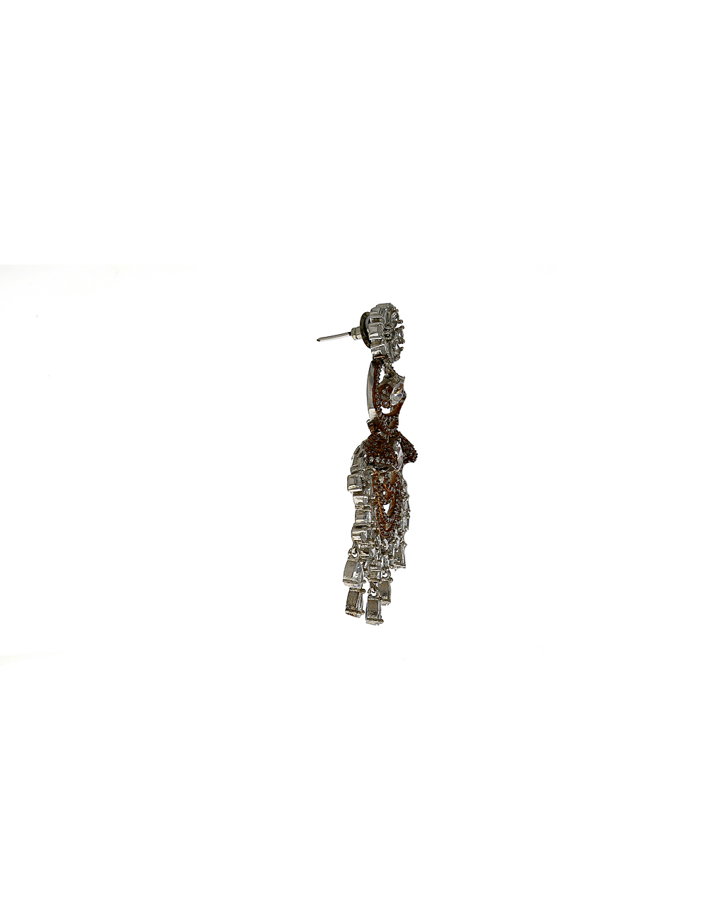 Jhumkhi Style Studded with American Diamond Earring for Women