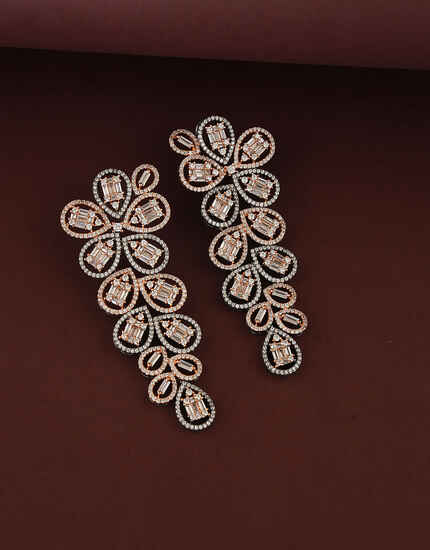 Classy Design Studded with American Diamond Earring for Women