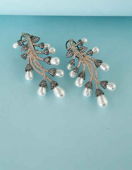 Antique Studded With  American Diamond Earring for Women