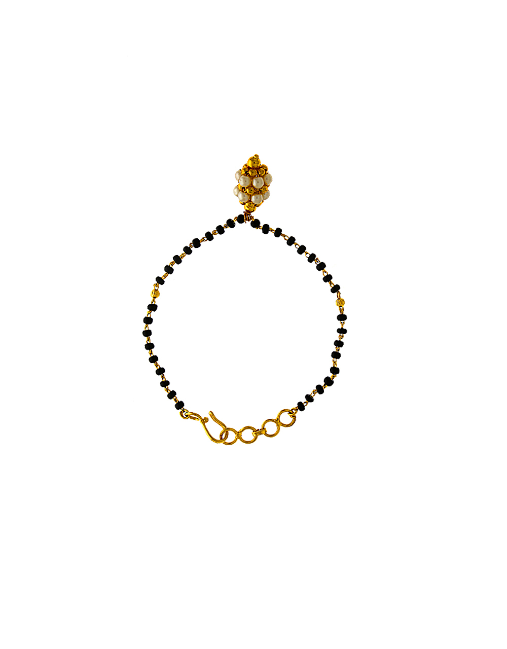 Modern Design Decked With Small Pearl Hand Mangalsutra For Women