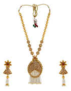 Floral Design Gold Finish Pendant For Women