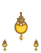Floral Design Studded With Pearl Pendant For Women