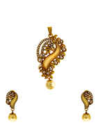 Fancy Design Studded With LCT Stone Pendant For Women