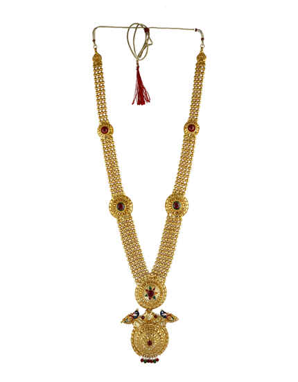 Maroon Colour Fancy Ganpati Necklace.