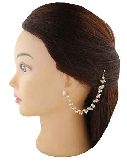 Golden Finish With White Peal Beads Kanchain For Women.