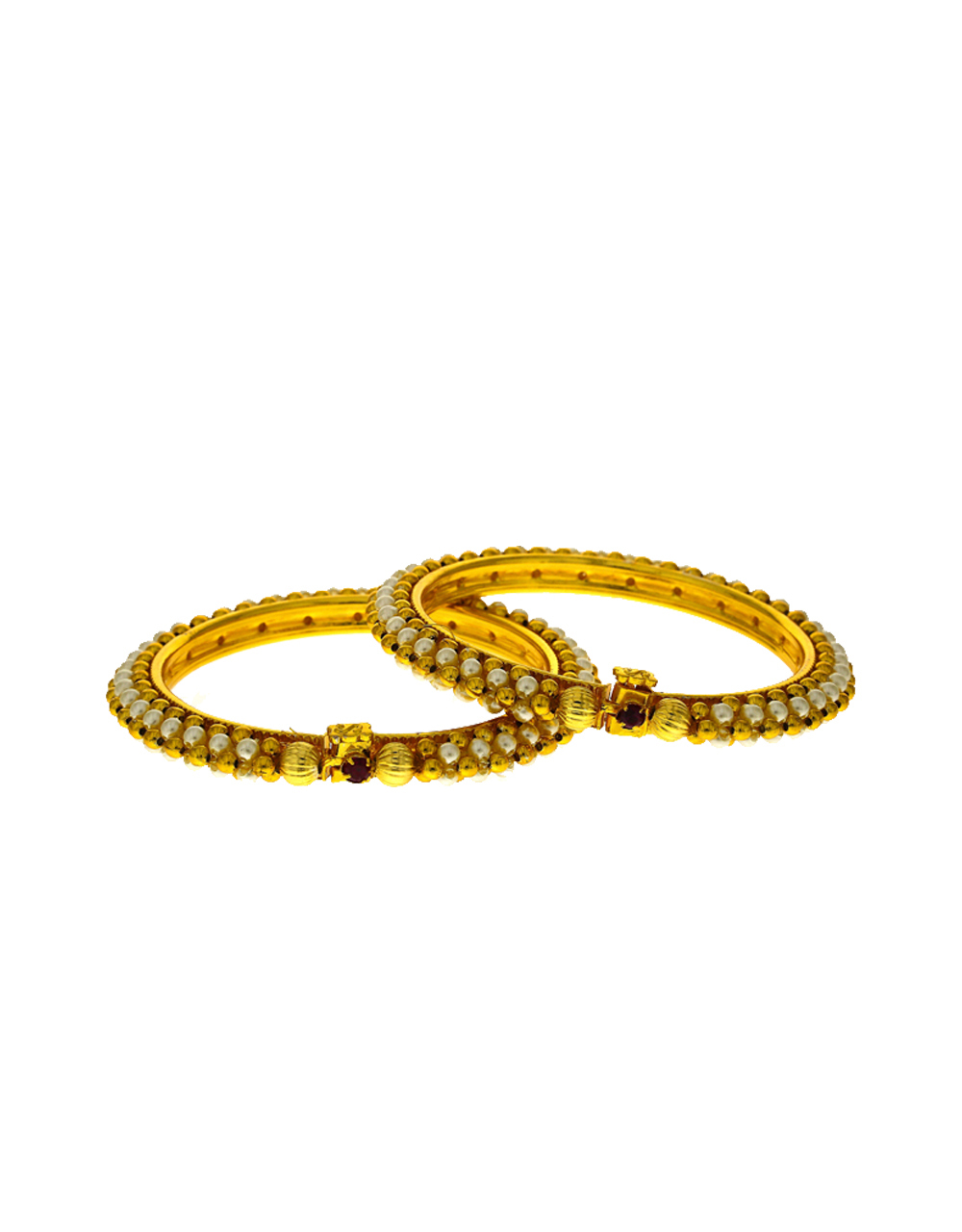 Classy design decorated with pearl bangles for women