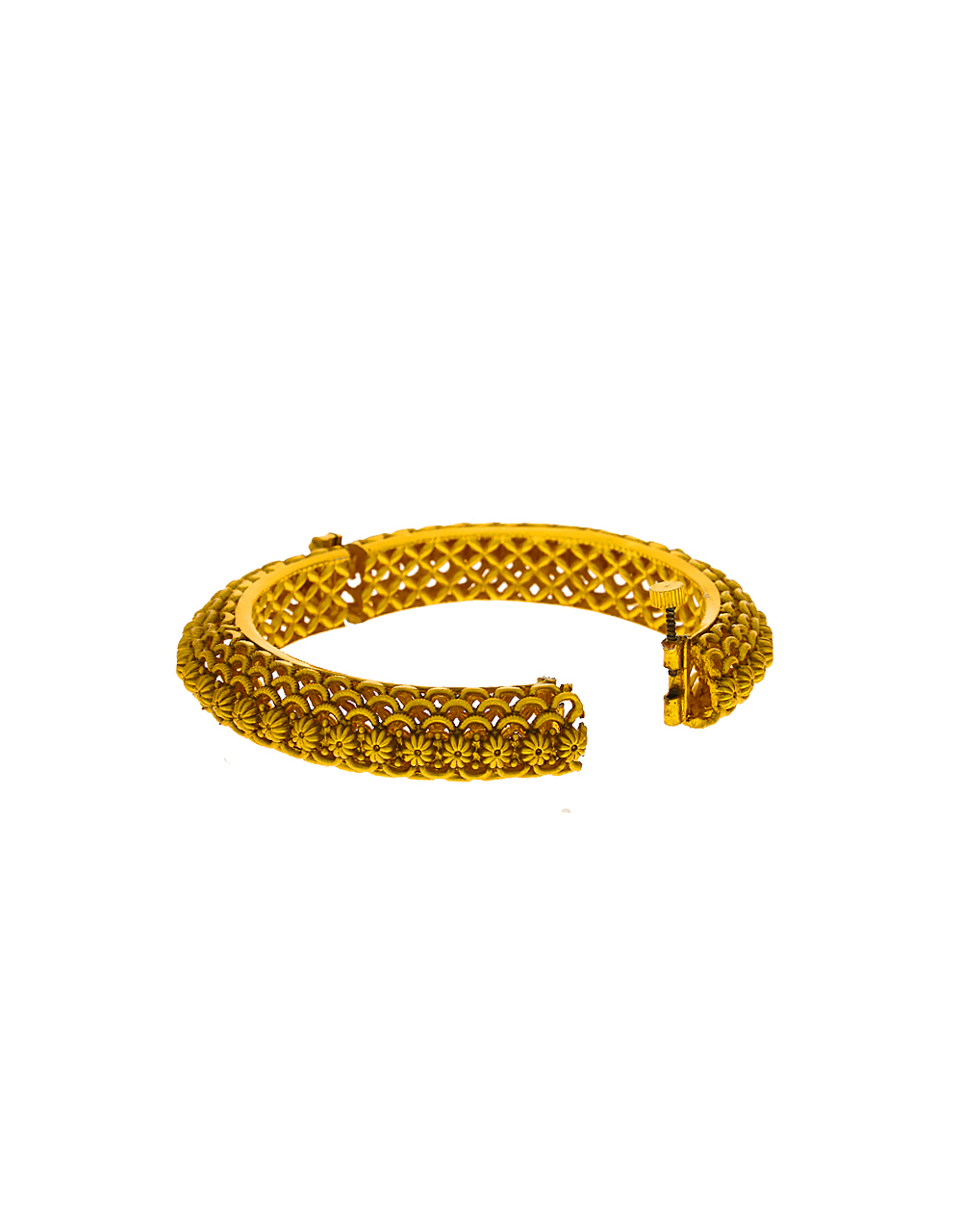 Classy Designer With Small Floral Design With Gold Finish Bangles For Women
