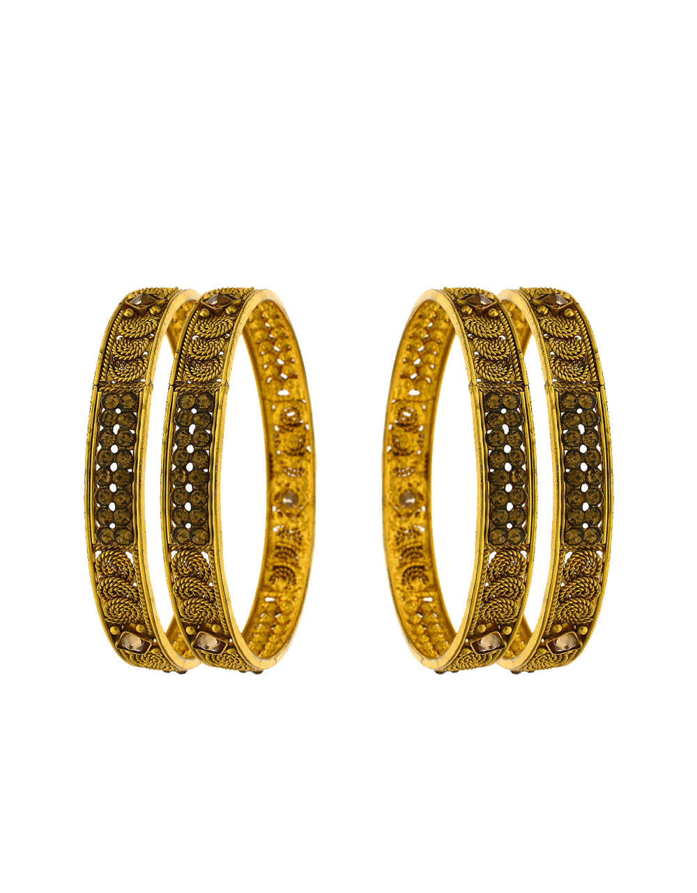 Traditional designer bangles decorated with LCT stone for women