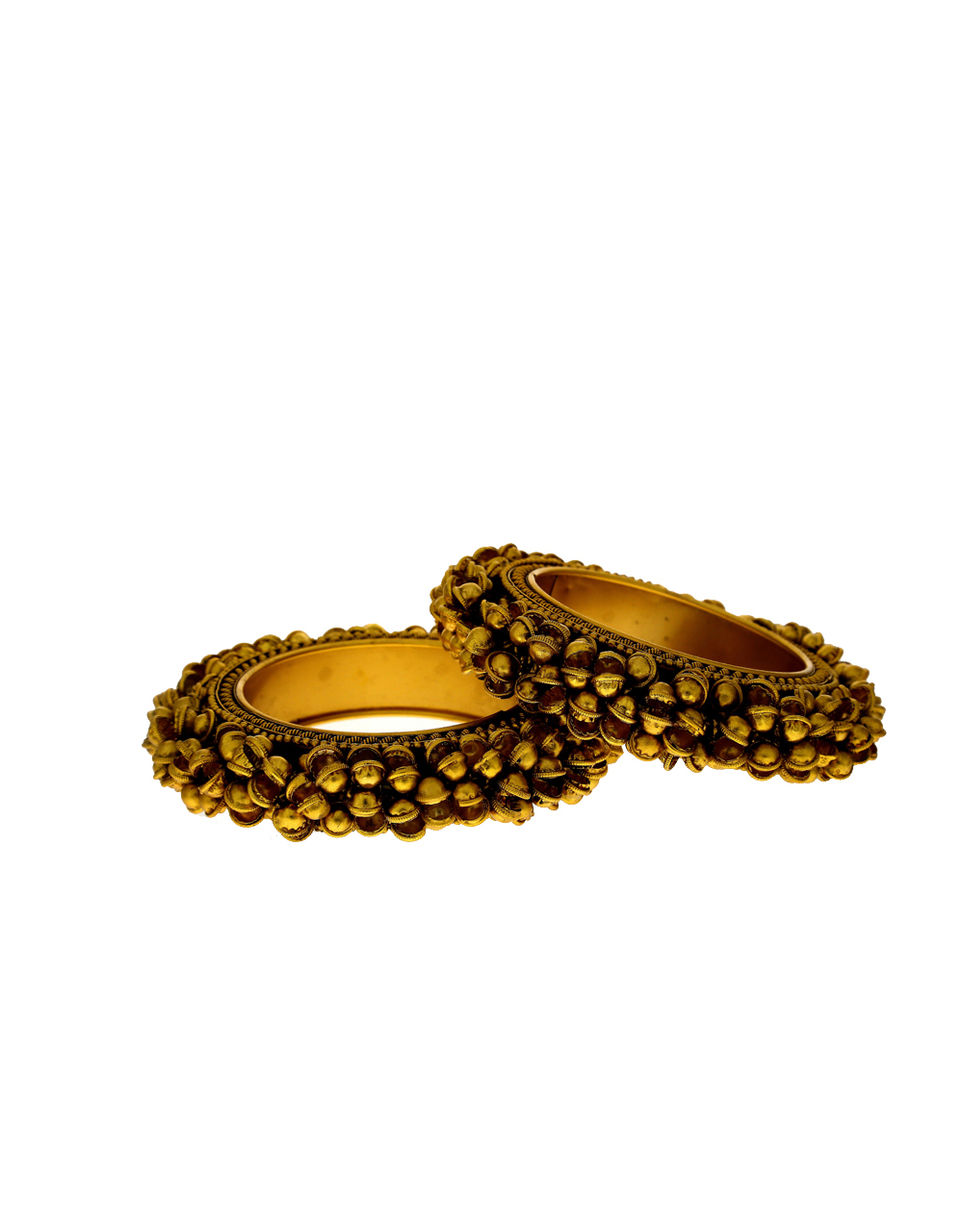 Fancy designer with matte gold finish bangles for women