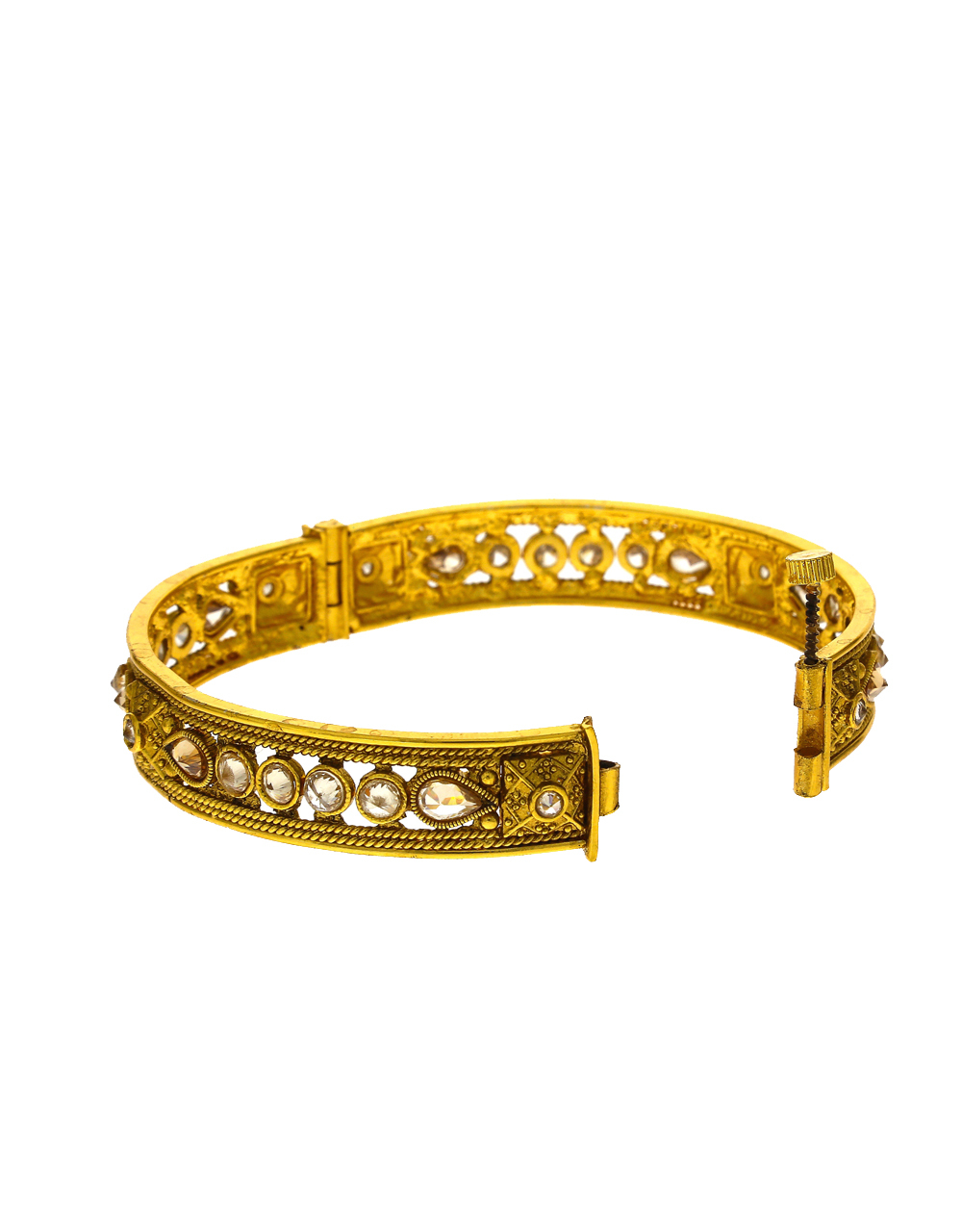 Exclusive Golden Colour LCT Stone Studded Traditional Bangles For Women Design.