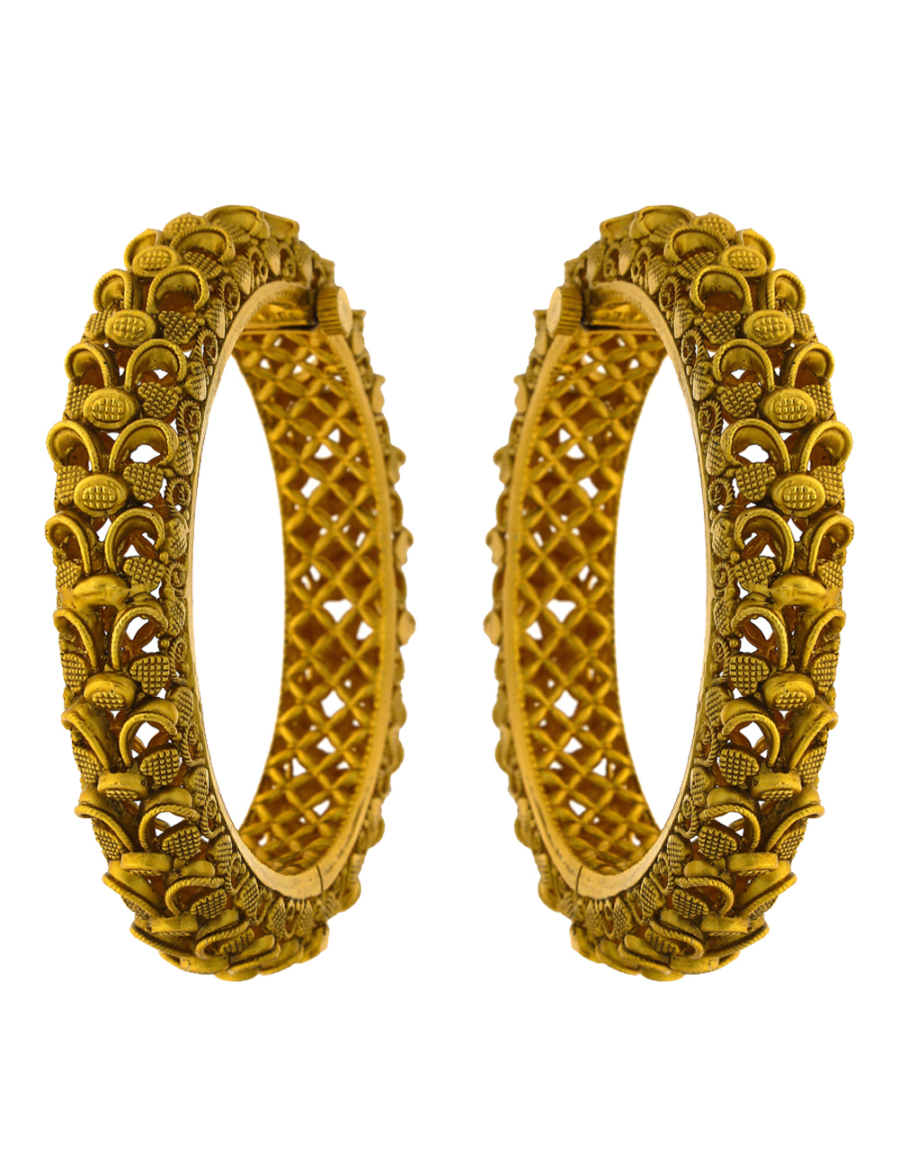 Adorable Matte Gold Finish Traditional Bangles For Women Online.