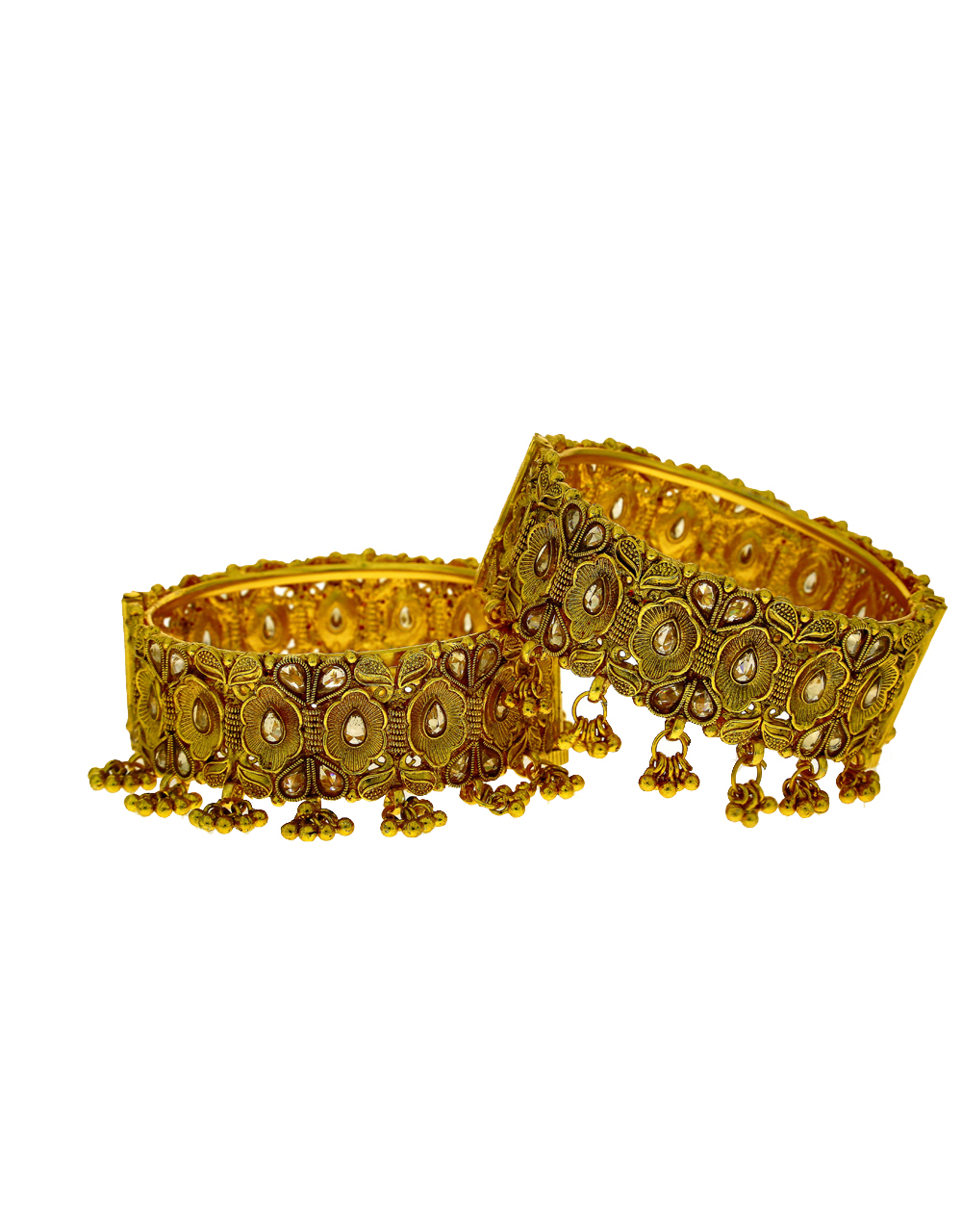Traditional Bangles With Ghoongru Droplet.