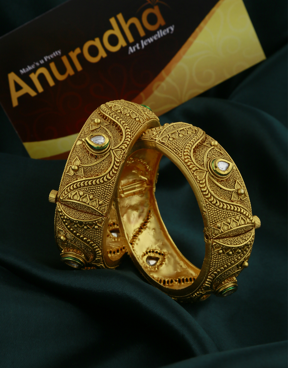 Beautiful Antique Golden Finishing Bangles For Women